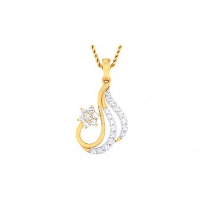SHYLAH DIAMOND STUDS EARRINGS in 18K Gold