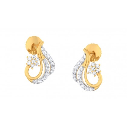 LILI DIAMOND STUDS EARRINGS in 18K Gold