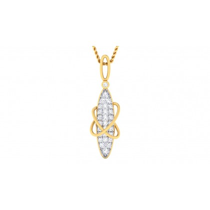 ALEAH DIAMOND FASHION PENDANT in 18K Gold