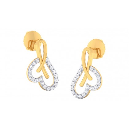 JOSIE DIAMOND STUDS EARRINGS in 18K Gold