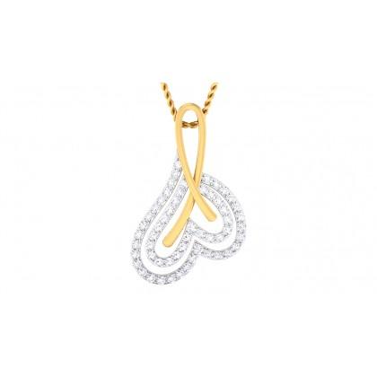 ISHANA DIAMOND HEARTS PENDANT in 18K Gold