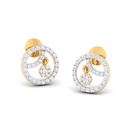 MELISA DIAMOND STUDS EARRINGS in 18K Gold