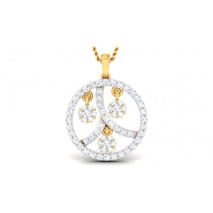 RASNA DIAMOND FASHION PENDANT in 18K Gold