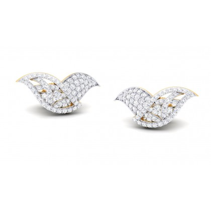 PAVANA DIAMOND STUDS EARRINGS in 18K Gold