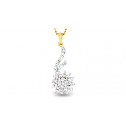 SURAMA DIAMOND FLORAL PENDANT in 18K Gold