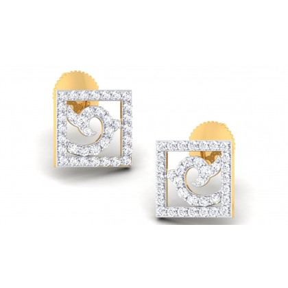 HARPER DIAMOND STUDS EARRINGS in 18K Gold