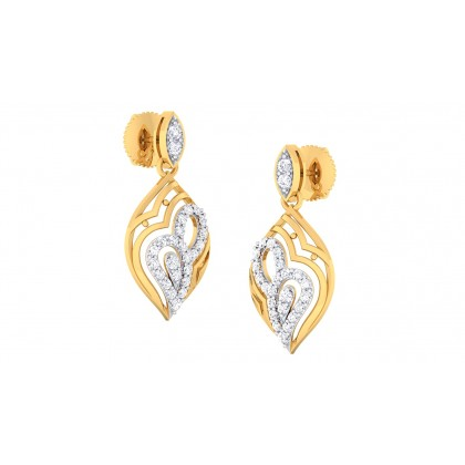 CHANDI DIAMOND DROPS EARRINGS in 18K Gold