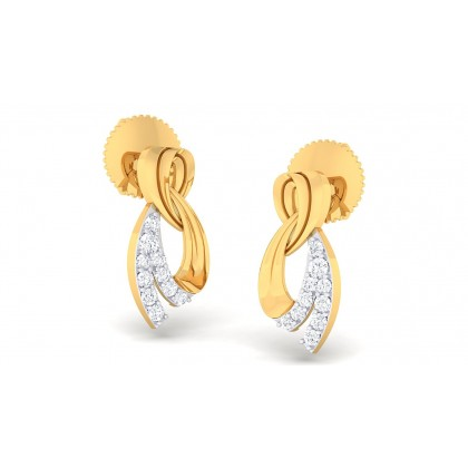 SHYLA DIAMOND STUDS EARRINGS in 18K Gold
