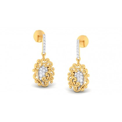 SHANSA DIAMOND DROPS EARRINGS in 18K Gold