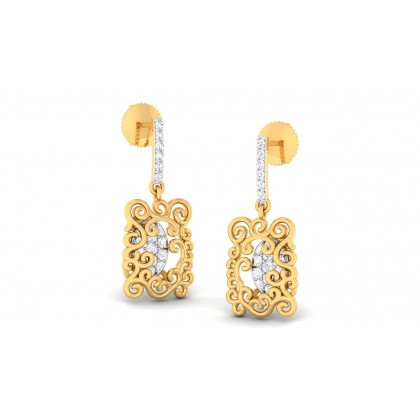 NOUR DIAMOND DROPS EARRINGS in 18K Gold