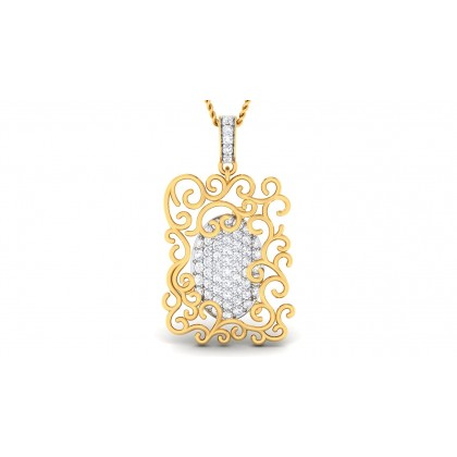 AMITA DIAMOND FASHION PENDANT in 18K Gold