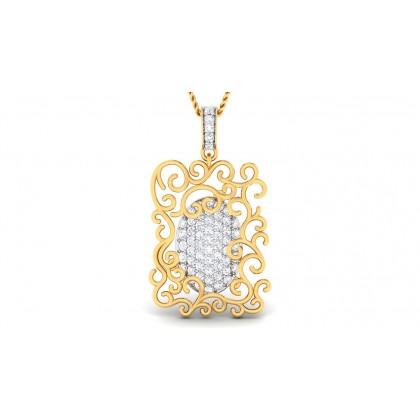 AMITA DIAMOND FASHION PENDANT in 18K Gold