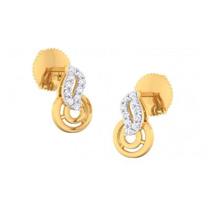 MASUM DIAMOND STUDS EARRINGS in 18K Gold