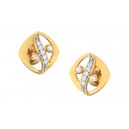 CADENCE DIAMOND STUDS EARRINGS in 18K Gold