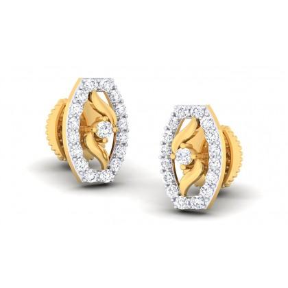 TORI DIAMOND STUDS EARRINGS in 18K Gold