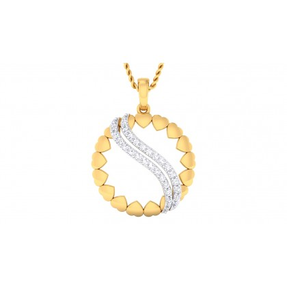 ARUSHI DIAMOND HEARTS PENDANT in 18K Gold
