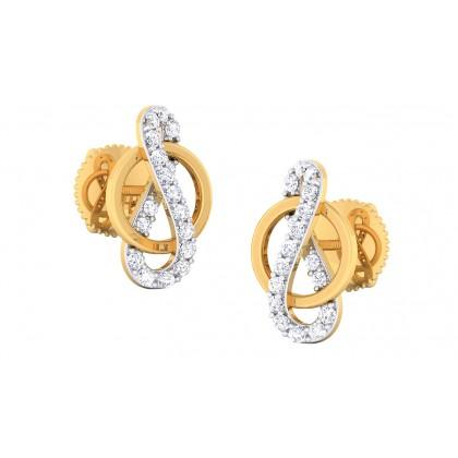 ARATHI DIAMOND STUDS EARRINGS in 18K Gold
