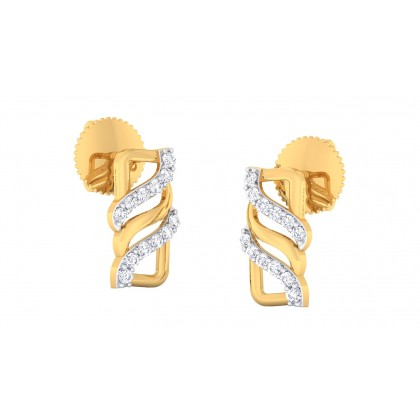 AVERY DIAMOND STUDS EARRINGS in 18K Gold