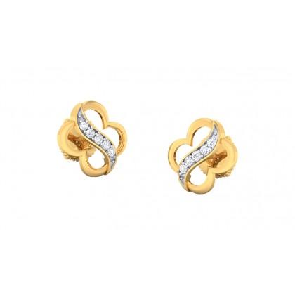 ASHA DIAMOND STUDS EARRINGS in 18K Gold