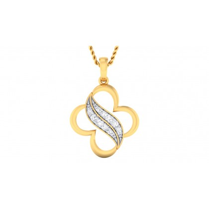 VINITA DIAMOND FASHION PENDANT in 18K Gold