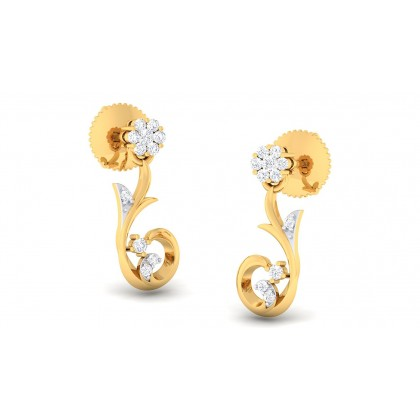 DIVYA DIAMOND STUDS EARRINGS in 18K Gold