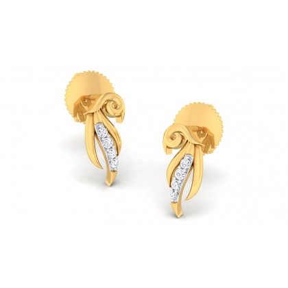 SABITA DIAMOND STUDS EARRINGS in 18K Gold