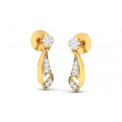 AJITA DIAMOND STUDS EARRINGS in 18K Gold