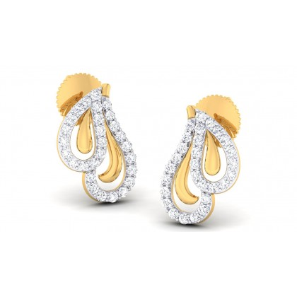 SABRINA DIAMOND STUDS EARRINGS in 18K Gold