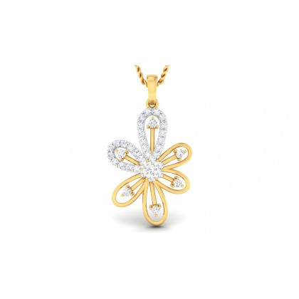 DARCY DIAMOND FLORAL PENDANT in 18K Gold