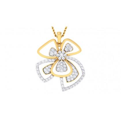 NIYA DIAMOND FLORAL PENDANT in 18K Gold
