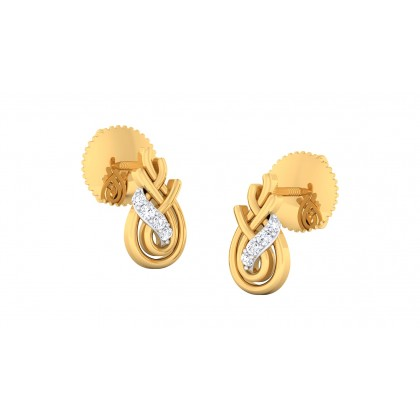 AYVA DIAMOND STUDS EARRINGS in 18K Gold