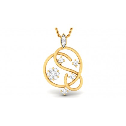 VEDHA DIAMOND FASHION PENDANT in 18K Gold