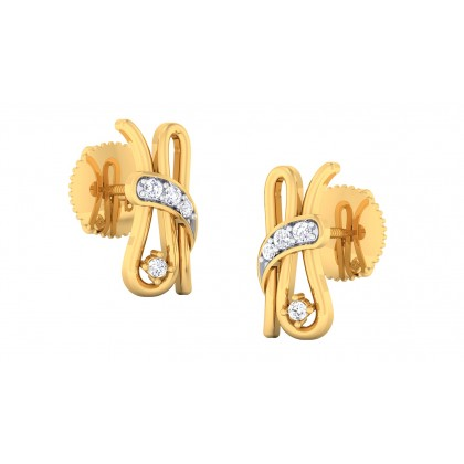 PRITIKA DIAMOND STUDS EARRINGS in 18K Gold