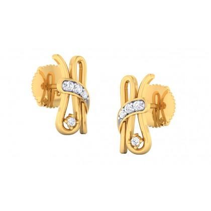 PRITIKA DIAMOND STUDS EARRINGS in 18K Gold