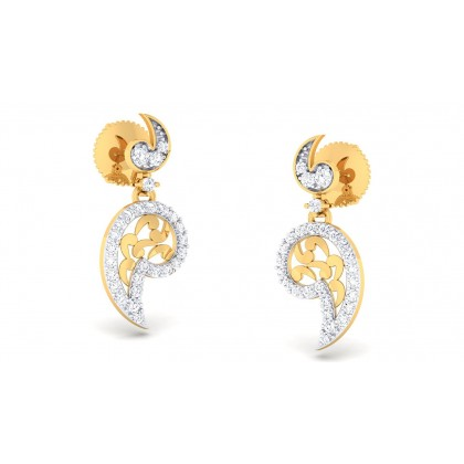 DAYA DIAMOND DROPS EARRINGS in 18K Gold