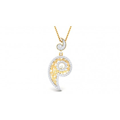 RAGA DIAMOND FASHION PENDANT in 18K Gold