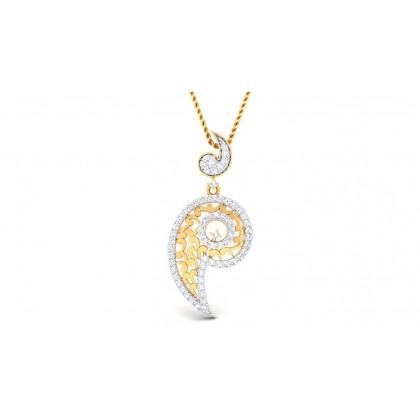 RAGA DIAMOND FASHION PENDANT in 18K Gold