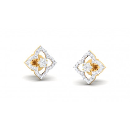 LINCOLN DIAMOND STUDS EARRINGS in 18K Gold