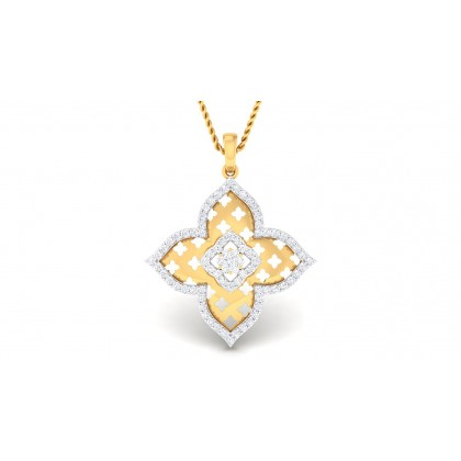 TALIKA DIAMOND FLORAL PENDANT in 18K Gold