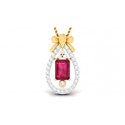 AVIGAIL DIAMOND FASHION PENDANT in Topaz & 18K Gold