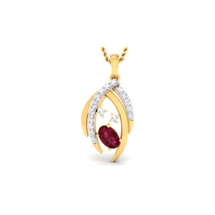 CIEL DIAMOND FASHION PENDANT in Ruby & 18K Gold