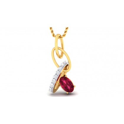 PAYOJA DIAMOND FASHION PENDANT in Ruby & 18K Gold