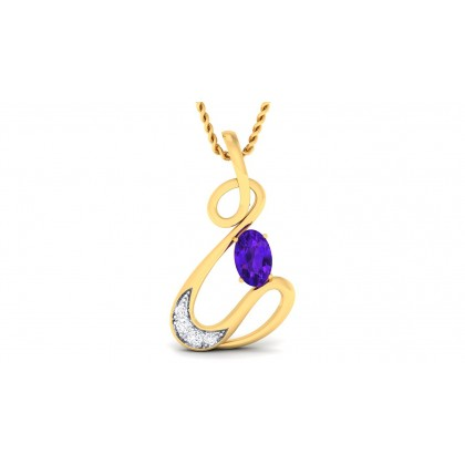 SUPRIYA DIAMOND FASHION PENDANT in Sapphire & 18K Gold
