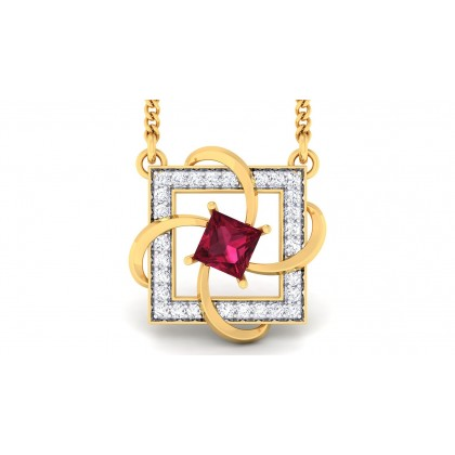 SHARADA DIAMOND FASHION PENDANT in Ruby & 18K Gold