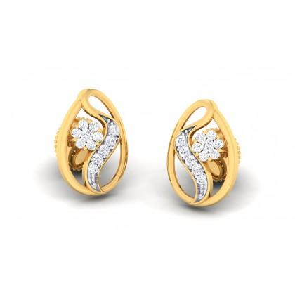 RANGANA DIAMOND STUDS EARRINGS in 18K Gold