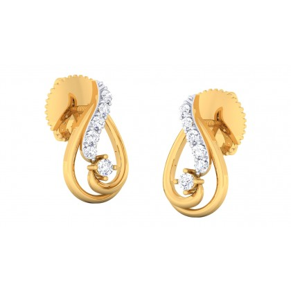 CHARLEY DIAMOND DROPS EARRINGS in 18K Gold