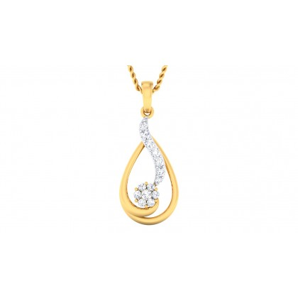 SAYALI DIAMOND FASHION PENDANT in 18K Gold