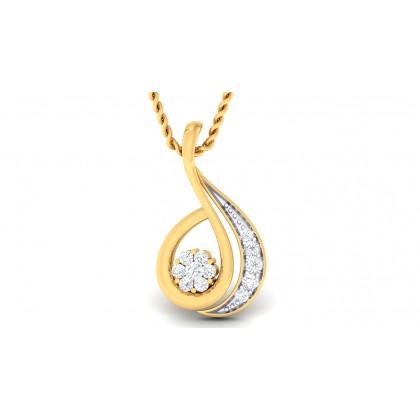 CARLA DIAMOND FASHION PENDANT in 18K Gold