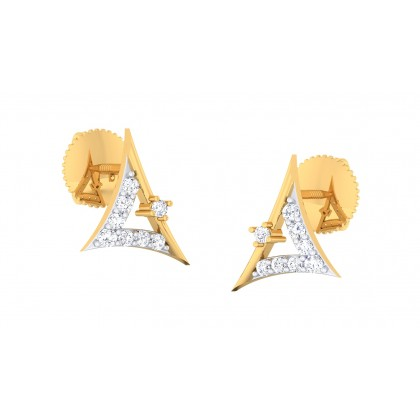 SONALI DIAMOND STUDS EARRINGS in 18K Gold