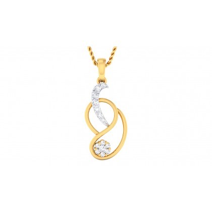 MANIKA DIAMOND FASHION PENDANT in 18K Gold